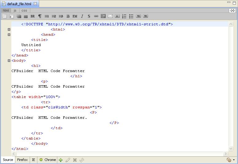 HTML Tidy Code Formatter