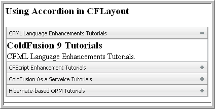 CFLayout with Accordion Example
