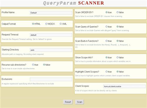 CF QueryParam Scanner